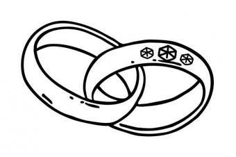 cArt-Us Stamp Large Wedding Rings, Brown