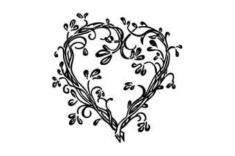 cArt-Us Stamp Heart Tendril, Brown