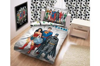 Justice League Justice League Bed Children's Bed Linen 140 x 200 cm (Oeko Tex Standard 100) Superman Batman Wonder Woman