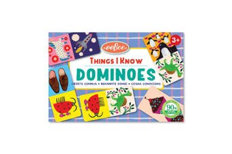 eeBoo Things I Know Little Dominoes Game