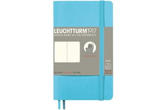 (Pocket (A6), Blank, Ice Blue) - LEUCHTTURM1917 (357661) Notebook Pocket (A6) Softcover, 123 Numbered Pages, Ruled, ice Blue