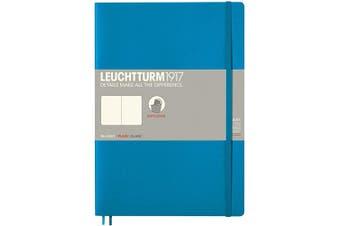 (Composition (B5), Blank, azure) - LEUCHTTURM1917 349271 Notebook Softcover Composition (B5), plain, azure