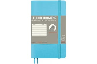 (Pocket (A6), Lined, Ice Blue) - LEUCHTTURM1917 (357662) Notebook Pocket (A6) Softcover, 123 Numbered Pages, Dotted, Emerald