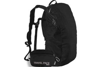 (Black /Black) - ChicoBag Travel Pack rePETe Compact Recycled Backpack