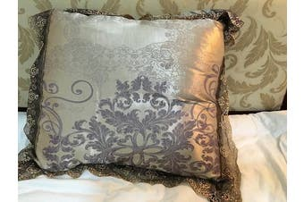 (Square, Pillowcase) - Satin Embroidery pillowcase 24×60cm Luxury European Neoclassical Style Pillow cover