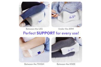 Cushion Lab Knee Pillow for Sciatica Pain Relief, Pregnancy, Hip, Leg, Joint & Lower Back Pain - Memory Foam Wedge Orthopaedic Leg Pillow for Side Sleepers & After Surgery Spine Alignment