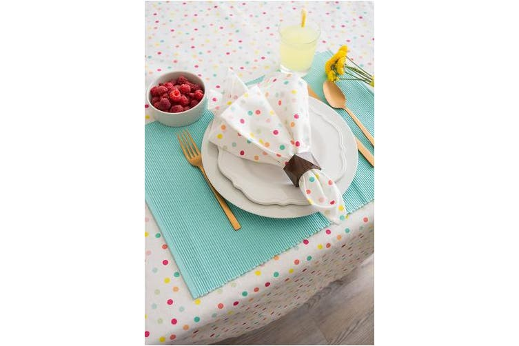 (150cm  x 300cm , Multi Polka Dots) - DII Rectangular Cotton Tablecloth for Spring Wedding, Dinner Parties, Kid's Party and Everyday Use - 150cm x 300cm , Multi Polka Dots