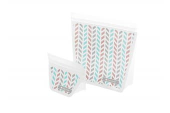(Mini + Travel Set, Chevron) - Full Circle ZipTuck Mini & Travel Size Reusable Bags, Chevron