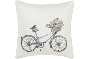 (50cm  pillow) - Laura Ashley Bicycle Throw Pillow, 50cm , Natural