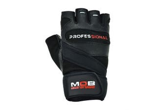 (Large) - Make or Break Professional Training Gym Gloves, GYM TRAINING BODYBUILDING WEIGHT LIFTING FITNESS WORKOUT STRAPS GLOVES