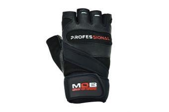 (Medium) - Make or Break Professional Training Gym Gloves, GYM TRAINING BODYBUILDING WEIGHT LIFTING FITNESS WORKOUT STRAPS GLOVES