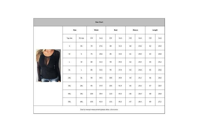(Large, Long Sleeves) - Fashion Shirt For Women Low Cut Splice Slim Stretchy Blouse Round Collar Long Sleeve/Sleeveless Spring Summer Casual Club Blouse T-Shirt For Ladies Women Black S-5XL