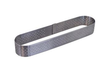 De Buyer 3099.40 Perforated Oblong Pastry Mould with Rounded Edges Stainless Steel 14.5 x 3.5 x 2 cm