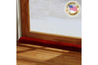 (90cm L - Single, Red) - LAMINET - 100% Organic Natural - Red - Door & Window Draught Stopper - Made in USA