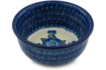 Polish Pottery Ice Cream Bowl 13cm Blue Poppies