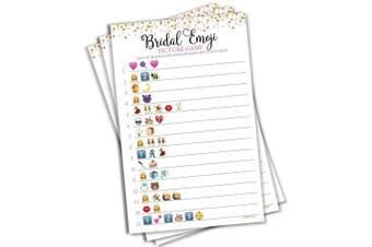Bridal Shower Emoji Picture Game (50-sheets)