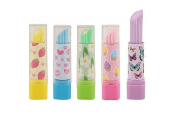 (10, multi-colored) - 10 x Lipstick Erasers/Rubbers Girls Party Bag Fillers - Assorted Colours
