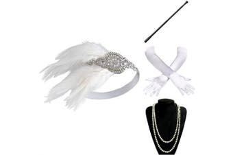(Accessory 13) - BABEYOND 1920s Flapper Accessories 20s Gatsby Costume Accessories Set Roaring 20s Flapper Accessories