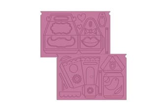 Crafter's Companion Sweet Treats Ultimate Embossing Boards Sweet Things, Purple