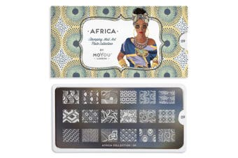 (Africa Plate Collection 09) - MoYou-London Africa Collection Stamping Plate   Africa Collection Nail Design Nail Art Manicure Pedicure Africa Plate Collection 09 Image)