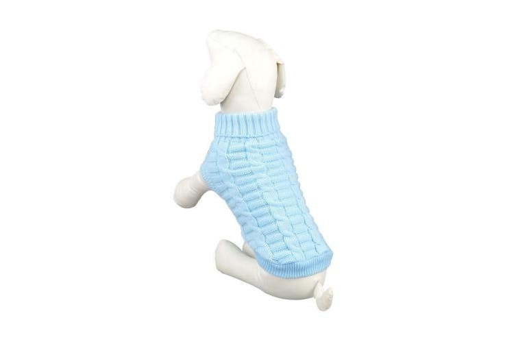 (L) - LUCKSTAR Cable Knit Turtleneck Sweater - Cats Sweater Pullover Knitted Clothes Pet Sweater for Small Dogs & Cats Kitten Kitty Chihuahua Teddy Knitwear Cold Weather Outfit