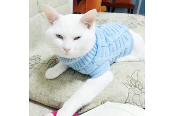 (XXL) - LUCKSTAR Cable Knit Turtleneck Sweater - Cats Sweater Pullover Knitted Clothes Pet Sweater for Small Dogs & Cats Kitten Kitty Chihuahua Teddy Knitwear Cold Weather Outfit