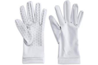 (X-Large) - Coolibar - UV sun gloves unisex- White