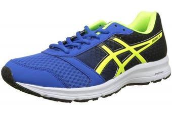 (13 UK, Blue (Victoria Blue/Safety Yellow/Black 4507)) - Asics Men's Patriot 9 Running Shoes