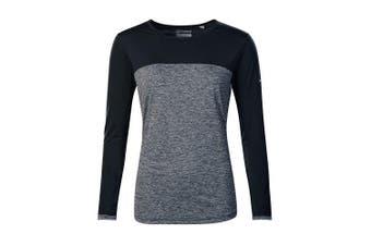 (8, Carbon Marl/Jet Black) - Berghaus Women's Voyager Tech Longsleeve T-Shirt