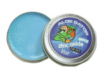 (Blue) - Aloe Gator SPF 15 Zinc Oxide Water Resistant Suncare for Face (Blue)