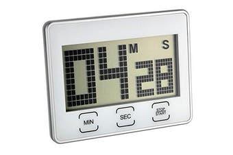 (White) - TFA High-Gloss Surface Digital Stopwatch Countdown Timer