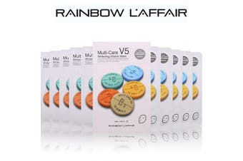L'AFFAIR Sheet Mask Set Korean Skin Care, 'Brightening' -10 Masks-
