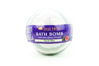 Tree Hut Shea Detoxifying Bath Bomb with Charcoal, Fig & Olive, 220ml