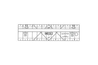 Log Cabin Ruler 1.9cm & 3.8cm - Bloc Loc