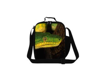 (Snake1) - Dispalang Snake Printed Small Lunch Box Bag for Children School Cooler Bags
