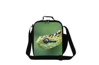 (Snake9) - Dispalang Snake Printed Small Lunch Box Bag for Children School Cooler Bags