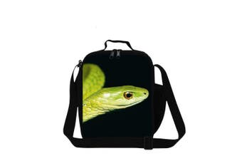 (Snake10) - Dispalang Snake Printed Small Lunch Box Bag for Children School Cooler Bags