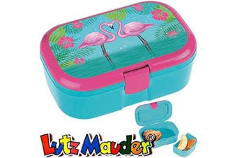 (Ohne Namen) - Lutz Mauder Lunch Box for Children * Flamingo Plus Your Name – Name Print/Hawaii Snack Box Sandwich Lunch Snack
