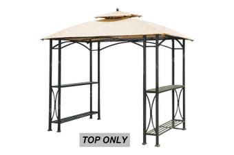 (Beige) - ABCCANOPY Canopy Roof Top Replacement L-GG040PST-A Small Grill Gazebo Canopy