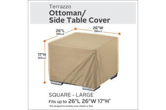 "(ottomans/tables26""lx26""wx17""h) - Classic Accessories 55-913-042001-EC Terrazzo Square Ottoman/Coffee Table Cover, Large"