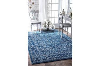 (0.6m x 0.9m, Blue) - nuLOOM 200RZBD22A-203 Vintage Waddell Area Rug, 0.6m x 0.9m