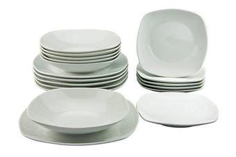 Creatable 19767 Square Plates Set, Porcelain, White, 31.5 x 29 x 29 cm