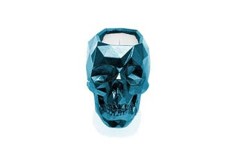 Candellana Candles Candlefort Candles Concrete Skull-Lavender Hill, Blue Metallic