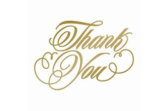 Couture Creations Thank You Hot Foil Stamp Die, Metal, Grey, 22.9 x 9.9 x 0.8 cm