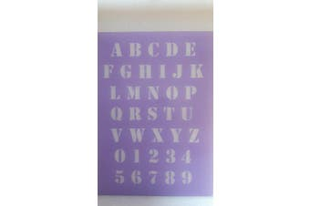 2 x A - Z alphabet block capital letters plastic sheet for craft greeting card making 2.5cm high walls hobby