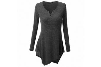 (L /UK 12-14 /Chest :90cm , Black) - AILEESE Women Casual Jumper Shirt Dress Long Sleeve Tops Oversized Sweater Pullover Loose Sexy Sweatshirt