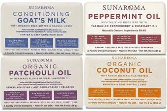Sunaroma Bar Soap Combo Set, 240ml Bars (Set of 4 Bars)
