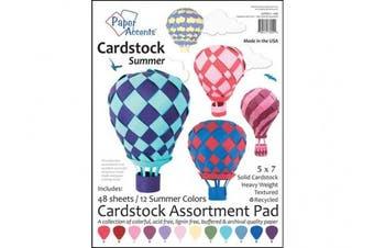 Accent Design Paper Accents ADP57.1089 Cdstkt Pad 5x7 Summer Cardstock Pad 5x7 48Pc Summer Assortment