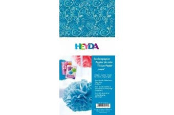 Baier Schneider & Tissue Paper 50 x 70 CM Blue / Ornament Loopie, 5 Sheets