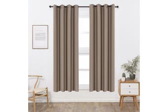 (W52 x L84, Khaki) - Shade Insulation Curtain For Bedroom Living Room Balcony Curtain,Khaki,130cm x 210cm ,1 Panel